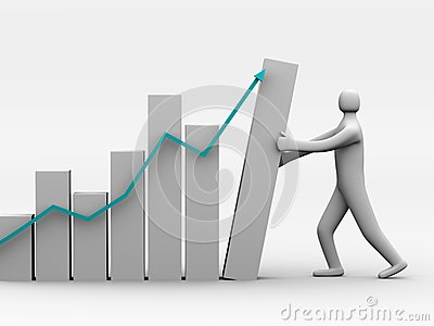 The person supports business graph