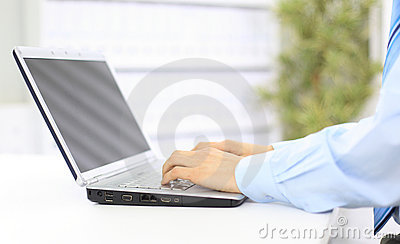 Person Typing on a modern