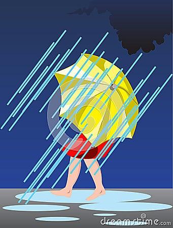 Person under umbrella