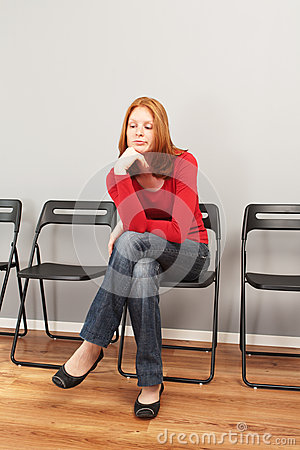 Person in a waiting room