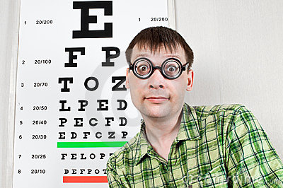 Person wearing spectacles