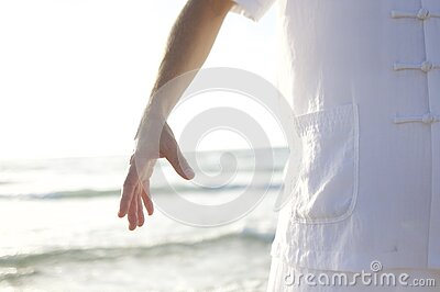 Person In White Shirt Standing On Seashore During Daytime Free Public Domain Cc0 Image