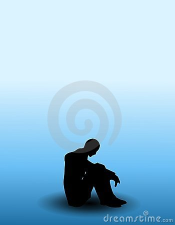 Free Person With The Blues Royalty Free Stock Image - 4504416