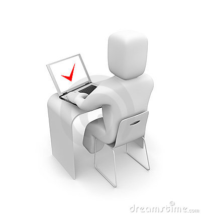 Person work on laptop stock image image 18291521