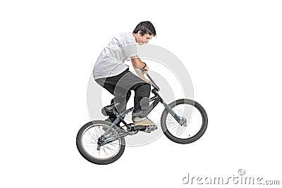 Persona Que Monta Una Bici En Salto Foto de archivo - Imagen: 11502740
