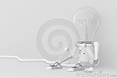 Personage robot lamp