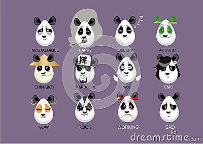 Personages pandas
