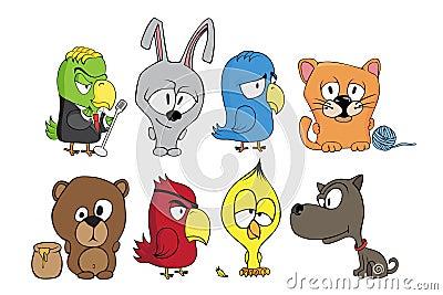 Personaggi dei cartoni animati divertenti immagini stock - Immagini dei cartoni animati vegetariani ...