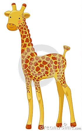 Jirafa Dibujo Animado Personaje de dibujos animados de la jirafa ...