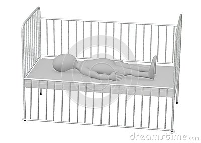 Personaje de dibujos animados en cama de hospital sue o for Cama 3d dibujo