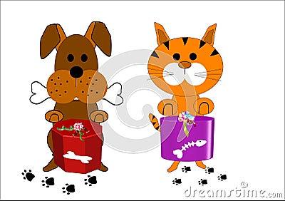 personajes de dibujos animados del perro y del gato fotos. Black Bedroom Furniture Sets. Home Design Ideas
