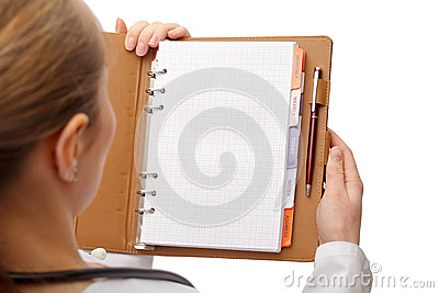 Personal agenda Stock Photo