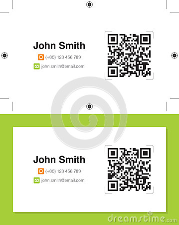 Personal business card design, ready for print