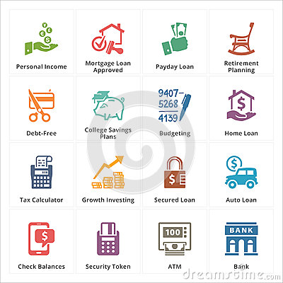 Free Personal & Business Finance Icons - Set 2 Royalty Free Stock Photography - 40478877