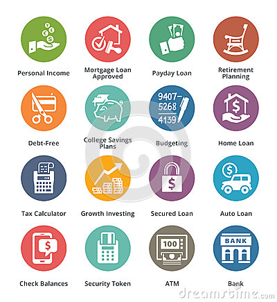Free Personal & Business Finance Icons Set 2 - Dot Series Stock Images - 49807964