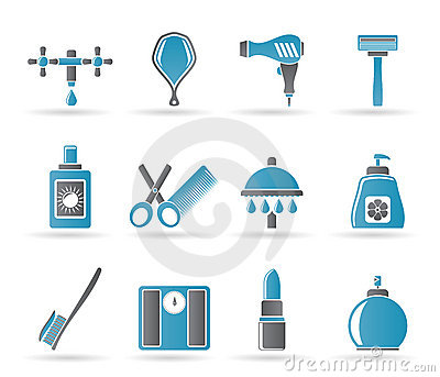 Personal care and cosmetics icons