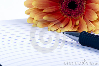 Personal Diary and flower 2