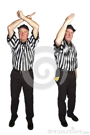 Free Personal Foul, Roughing The Passer Royalty Free Stock Photo - 36918795