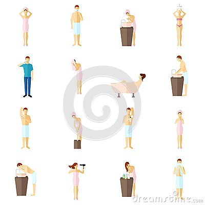 Free Personal Hygiene Flat Icons Set Royalty Free Stock Photo - 54980525