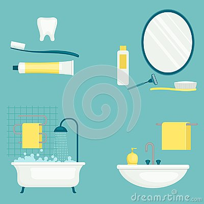 Free Personal Hygiene Vector Illustration. Health Care. Royalty Free Stock Photography - 109280587