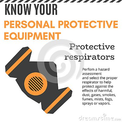 Free Personal Protective Equipment Vector Illustration For Poster Royalty Free Stock Images - 134022599