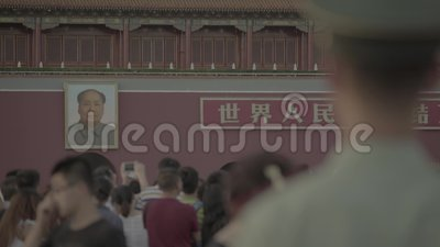 Personas en la Plaza Tiananmen Pekín China Asia metrajes