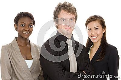 Personas jovenes del asunto