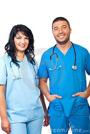 Personas médicas cómodas