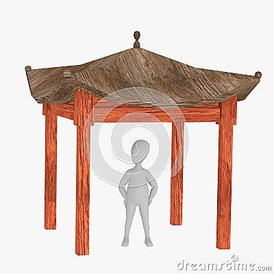 personnage de dessin anim avec la maison japonaise 14 images stock image 24352414. Black Bedroom Furniture Sets. Home Design Ideas