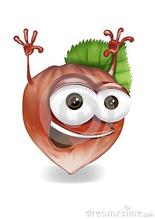Personnage de dessin anim heureux de noisette riant - Dessin noisette ...