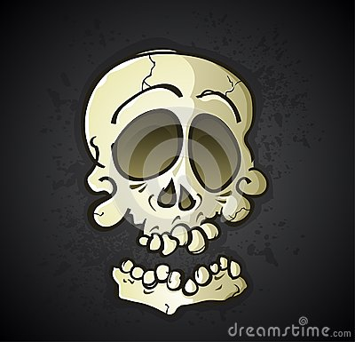 Personnage de dessin animé de crâne