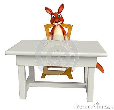 Personnage de dessin anim de kangourou d 39 amusement avec for Chaise 3d dessin