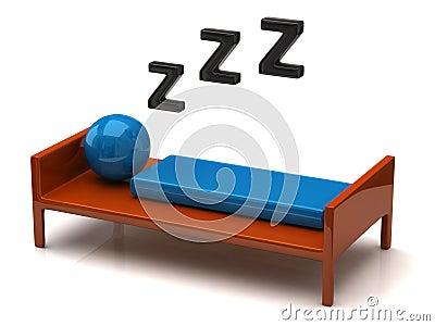 Personne solidement de sommeil