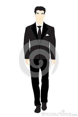Persons in black suit