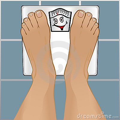 Persons Feet on Weighing Scale