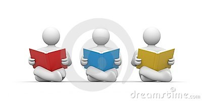 Persons read the book