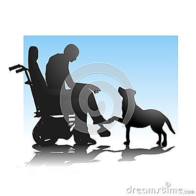 Persoon in Rolstoel en Hond