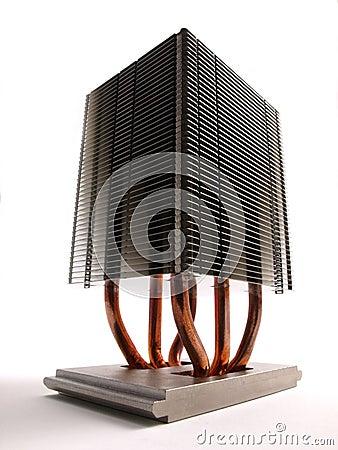 Perspectiva do dissipador de calor do processador central