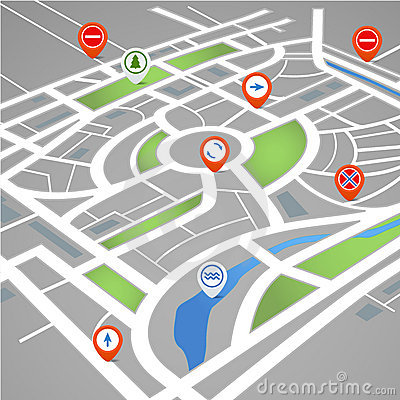 Free Perspective Background Of Abstract City Map Stock Photo - 22382610