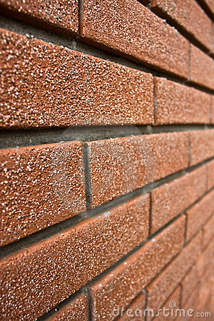 Perspective brick wall