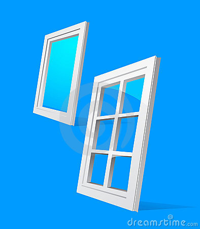 Perspective plastic window illustration