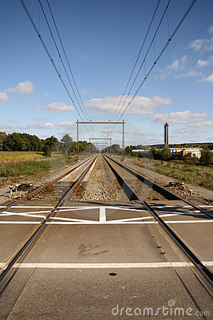 Perspective shot of railway