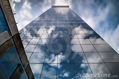 Perspective of a skyscraper