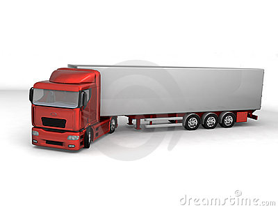 Perspective view of 3d truck