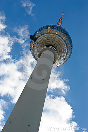 Perspective view up of Berlin TV tower
