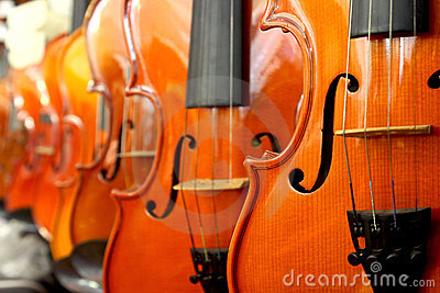Perspective of violin