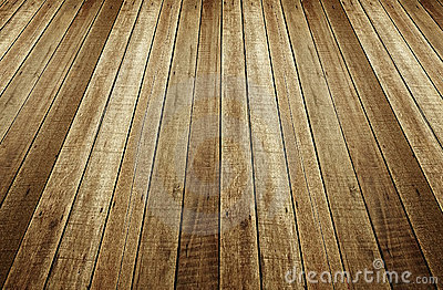 Perspective of wood plank background