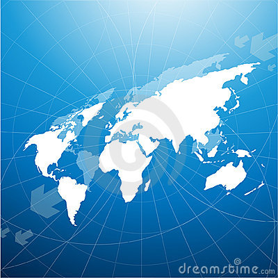 Free Perspective World Map Stock Images - 9744734