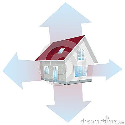Perte de chaleur dans la maison illustration de vecteur image 42420775 - Perte de chaleur d une maison ...