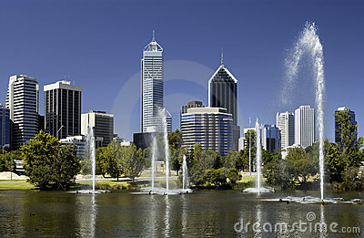 Perth - Australia - Downtown Skyline
